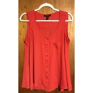 Style and Co. red sheer tank top size small